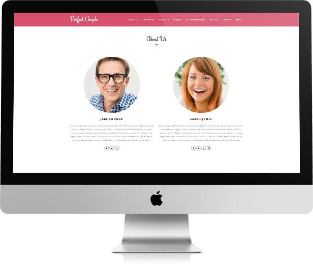 Perfect Couple - Wedding WordPress Theme - 2
