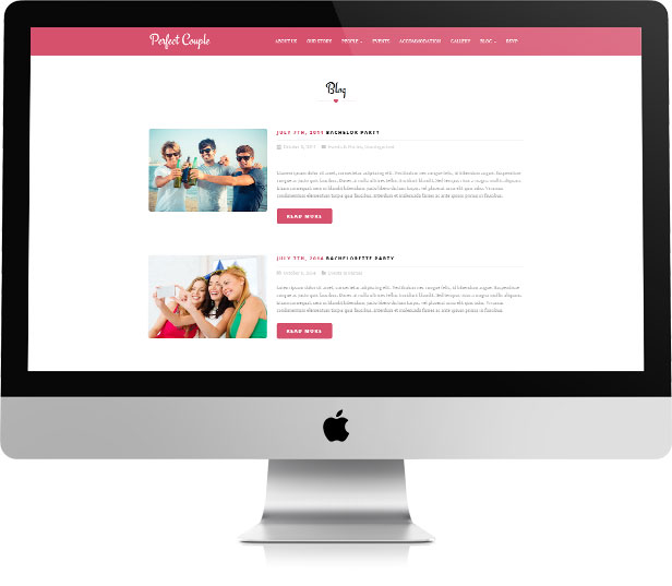 Perfect Couple - Wedding WordPress Theme - 3